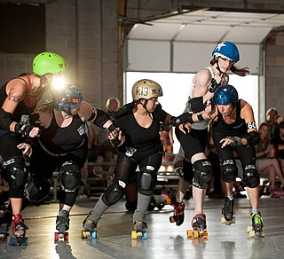 Roller derby contact sport
