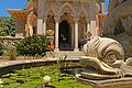 Water fountain outside the Palace of Monserrate (28032416375).jpg