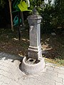 Water well in the cemetery of Vonyarcvashegy, 2016 Hungary.jpg