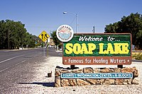 Welcome sign in Soap Lake (Washington).jpg