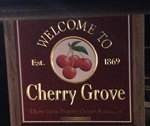 "Cherry Grove, New York - ""Welcome to Cherry Grove"" sign"