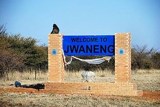 Jwaneng - Image: Welcome to Jwaneng