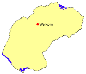 Welkom location in Free State.png