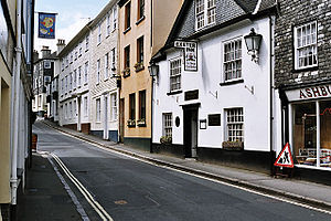 Ashburton, Devon - Image: West Street , Ashburton