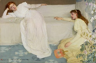 Symphony in White, No. 1: The White Girl - Image: Whistler Symphony in white 3