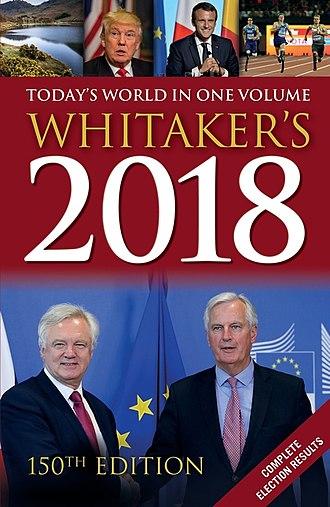 Whitaker's Almanack - Front cover