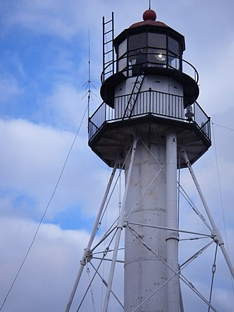 Great Lakes Shipwreck Museum - Whitefish Point light tower in 2007 before start of restoration
