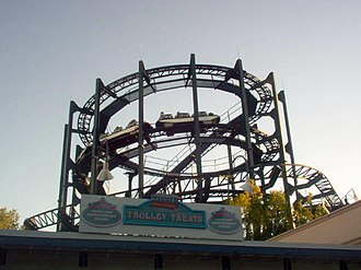 Six Flags Great America - Whizzer is one of only a few original Marriott rides to survive to the present day.