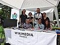 Wikimédiens à l'Écofestiv' Chambéry 2015.JPG