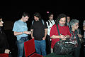 Wikimania 2009 - Stallman signing selled stuffed ñu.jpg
