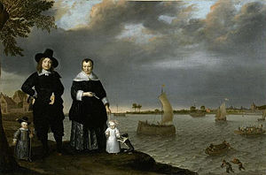 Abraham Willaerts - Portrait of a shipowner's family