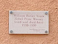 William Butler Yeats plaque Roquebrune Cap Martin.jpg
