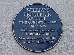 William frederick wallett plaque