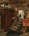 William Powell Frith (follower) Model in a cluttered studio.jpg