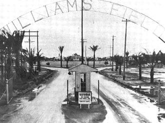 Arizona during World War II - Image: Williams Army Airfield Main Gate 1942