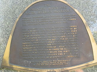 Greater Winnipeg Water District aqueduct - W