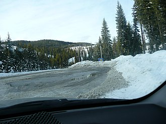 Lolo Pass (Idaho–Montana) - Image: Winter Road Montana