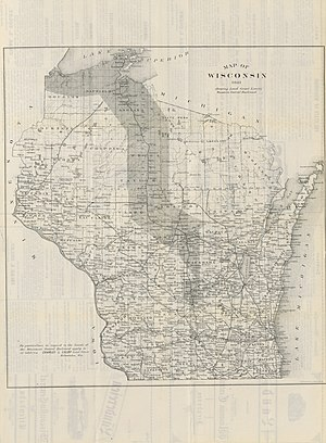 Wisconsin Central Railroad (1871–99) - Wisconsin Central Railroad Lands 1881