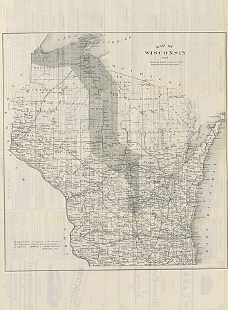 Wisconsin Central Railroad (1871–1899) - Wisconsin Central Railroad Lands 1881