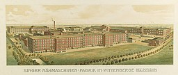 Singer Nähmaschinen-Fabrik, Wittenberge [Public domain], via Wikimedia Commons