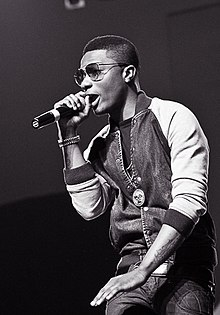 Wizkid performing at the Desire album launch concert in 2013