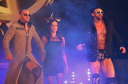 Magnus (right) with Desmond Wolfe and his valet Chelsea in July 2010 - Magnus (wrestler)