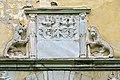 Wolfsberg Reideben 1 Schloss Sued-Portal Wappen Freyberg und Kronegg 03092014 359.jpg
