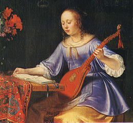 Woman with Cittern