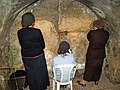 Women praying in the Western Wall tunnels by David Shankbone.jpg