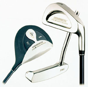 Wood, putter and iron are shown.