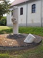 World War II memorial and Reformed Church, 2019 Ajka.jpg