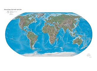 World map 2004 CIA large 2m