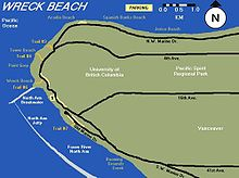 Wreck Beach Map