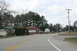 Wyeville Wisconsin Downtown Looking West WIS21.jpg