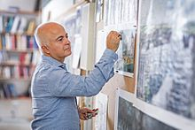 Yadegar Asisi in his studio