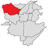 Ajapnyak district shown in red
