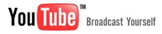 YouTube - The YouTube logo from launch until 2011, featuring its former slogan Broadcast Yourself