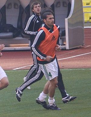 Ze'ev Haimovich - Haimovich warming up for Terek Grozny in 2010