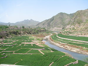 Zhang River - Zhang River, Henan on the left, Hebei on the right, Shanxi in the distance