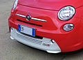 """15 - EXPO MILANO 2015 - 500e automobile grill facing left focus on automobiles.jpg"