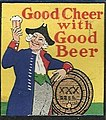 """""""Good Cheer with Good Beer"""" art in 1938 - Betzs Cafe Matchcover Allentown Pa (cropped).jpg"""