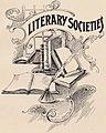 """LITERARY SOCIETIES"" art detail, Virginia Tech Bugle 1899 (page 125 crop).jpg"