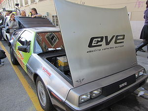 DeLorean Motor Company - All-electric model DMCev in Milan (2012).