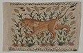 """"""" A Lion"""", Folio from a Dispersed Nuzhatnama-i 'Ala'i of Shahmardan ibn Abi'l Khayr MET sf13-160-8r.jpg"""