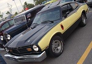 Ford Maverick (Americas) - Image: '77 Ford Maverick Coupe (Auto classique Bellepros Vaudreuil Dorion '11)