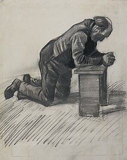 'Old Man Praying', drawing by Vincent van Gogh