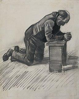 'Old Man Praying', drawing by Vincent van Gogh