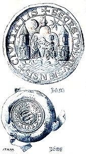 Sigilli della città tra 1421 ed il 1608.