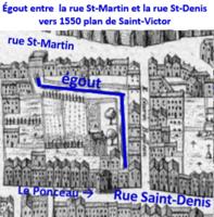 Égout du ponceau sur plan de St-Victor de 1550.png