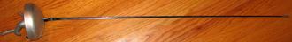 Épée - An electric épée with a pistol grip